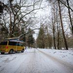 Volkswagen California in de sneeuw