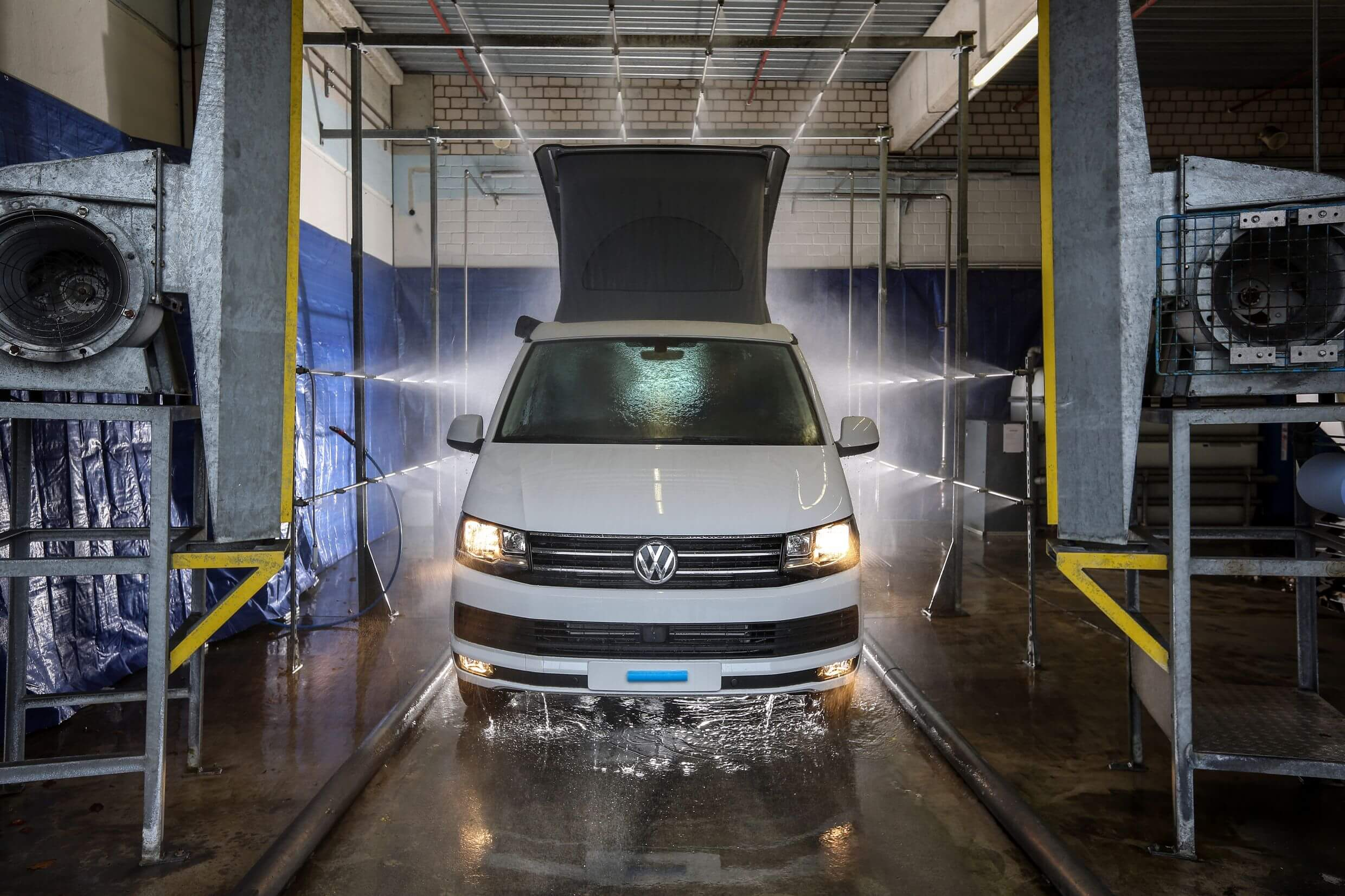 Controle of de Volkswagen California waterdicht is