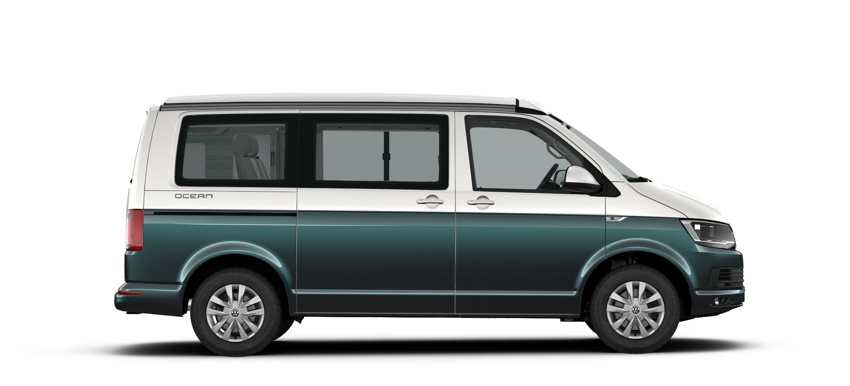 Bambus Green/Candy White two tone metallic lak - Volkswagen California Ocean