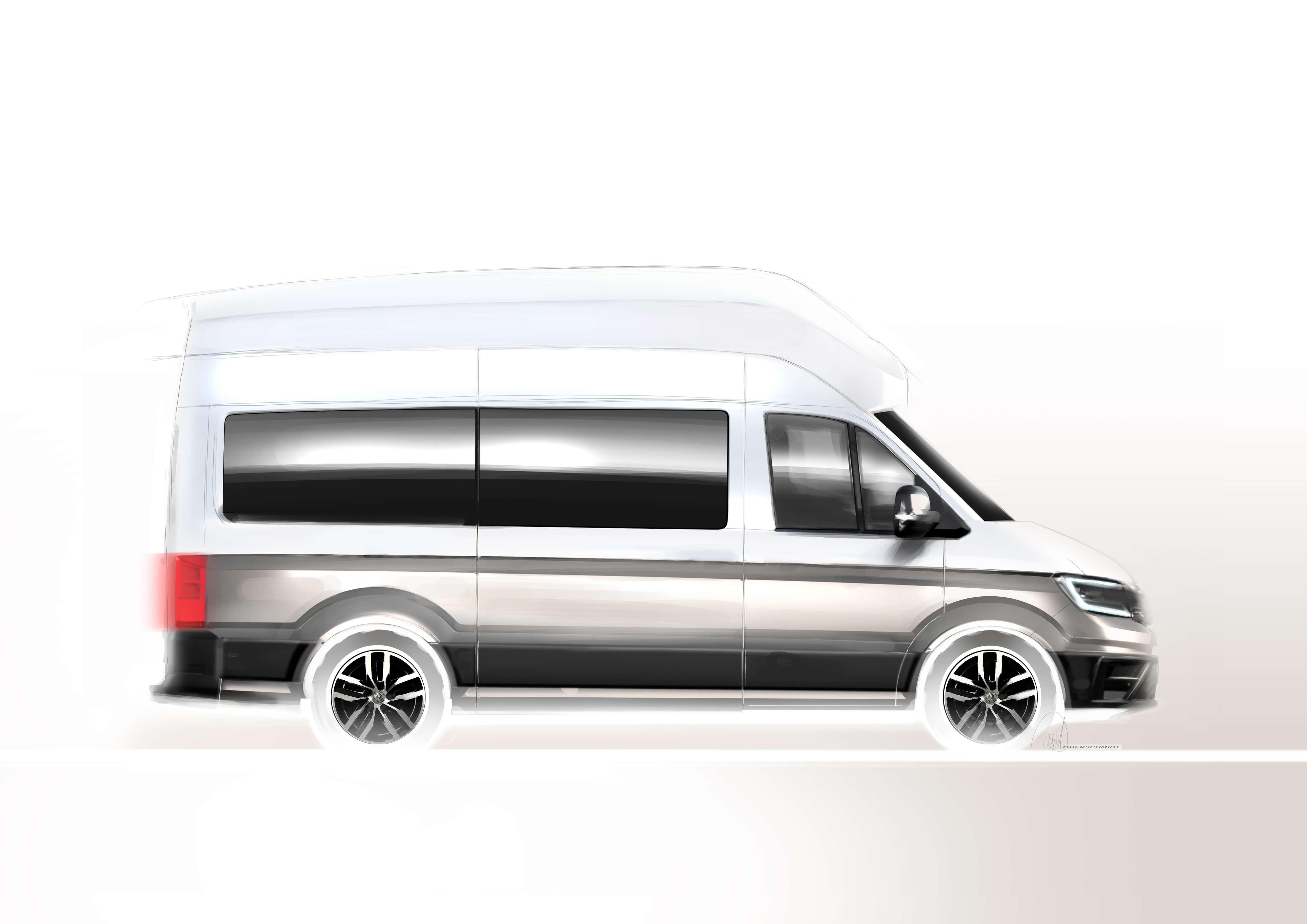 Volkswagen California schets buitenkant