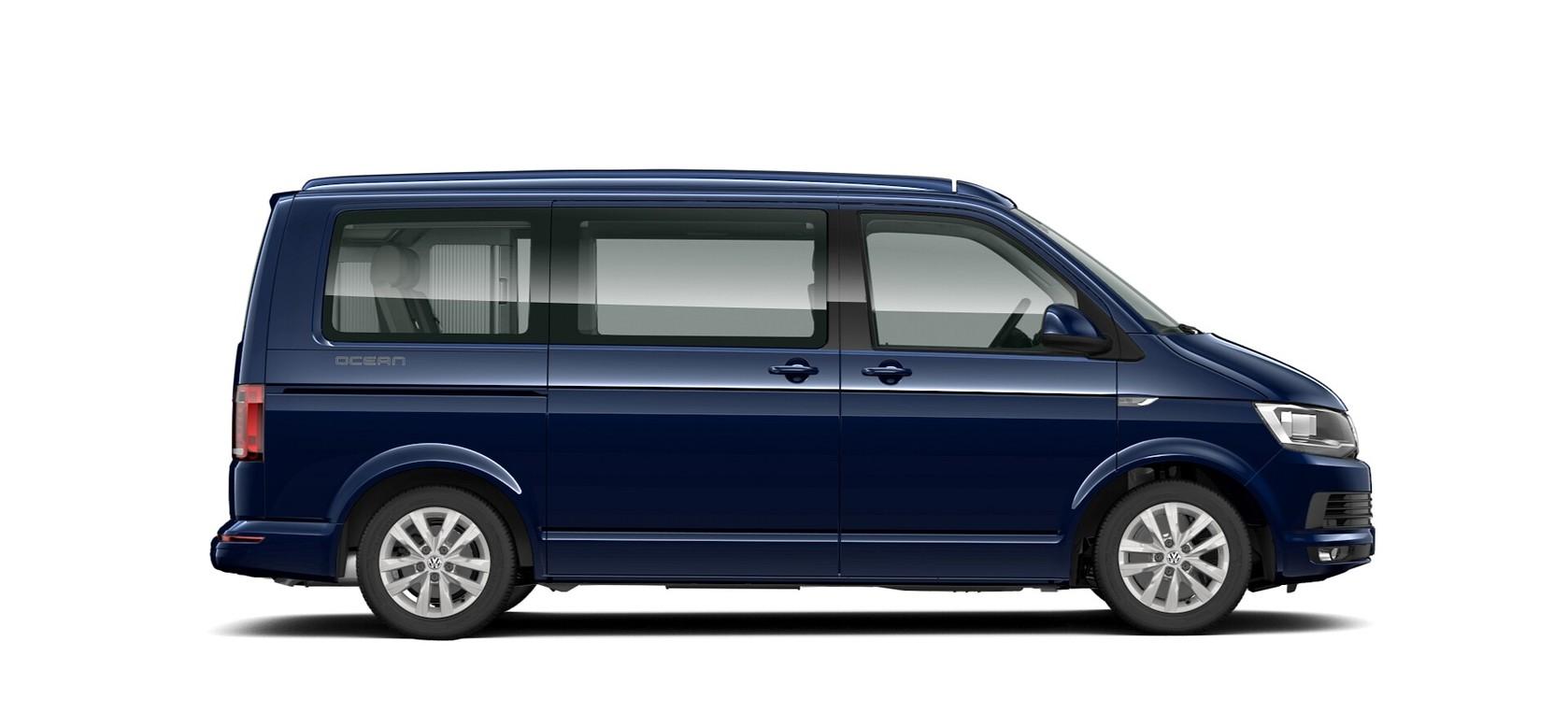 Starlight Blue metallic lak Volkswagen California Ocean