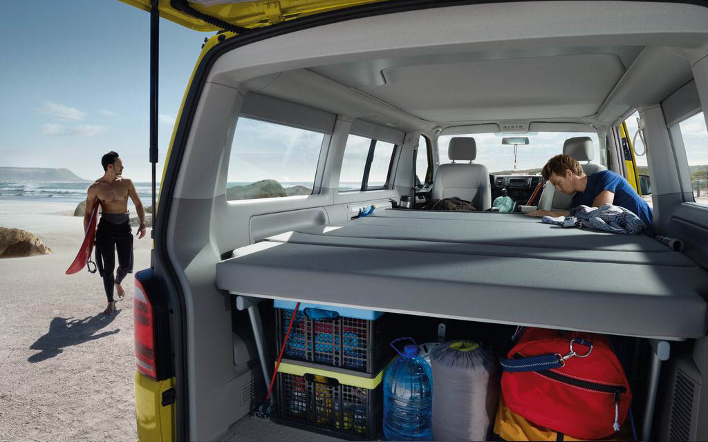 Opbergruimte in de Volkswagen California Beach