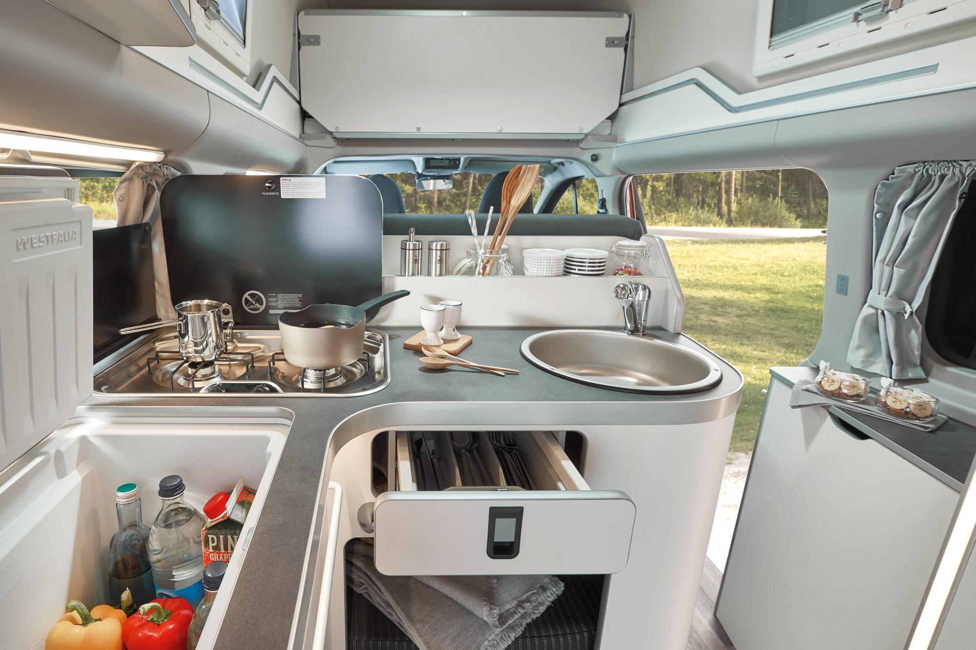 Keuken Westfalia Ford Nugget Hoogdak