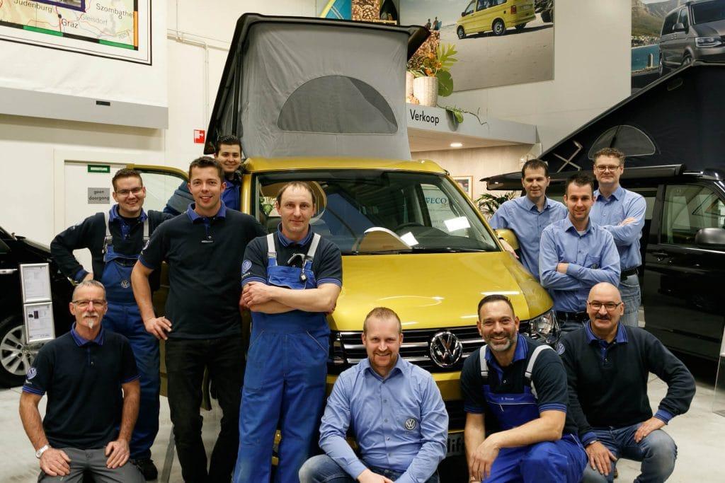 Het team van Campercentrum Nederland